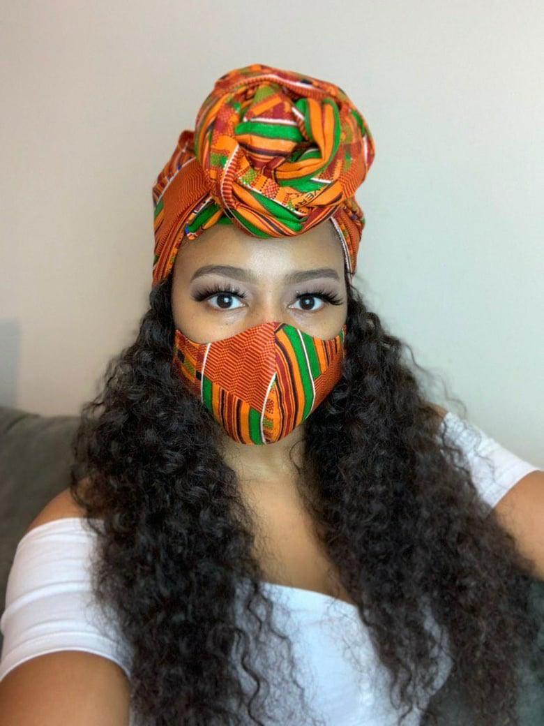 Image of Goddess Mask and Head Scarf Set