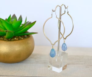 Angelite Hoop Earrings