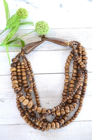 Zuri Wood Necklace