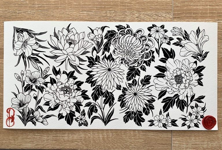 Image of FLOWER FLASH PRINT (22CMx40CM)