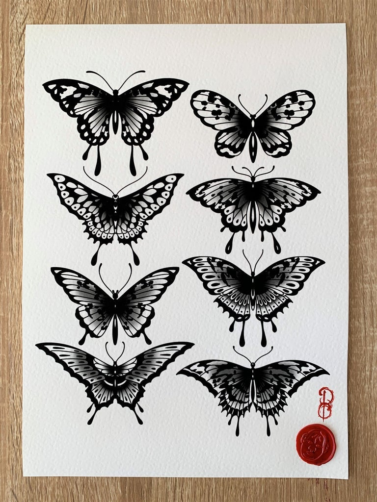 Image of BUTTERFLY PRINT (A4)