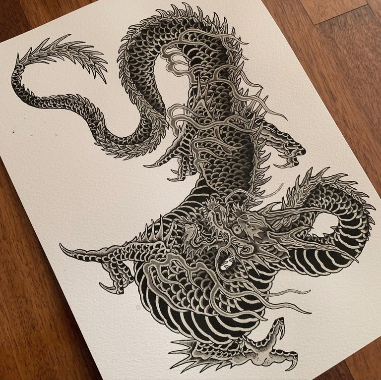 Image of DRAGON PRINT (A3) (PREORDER)