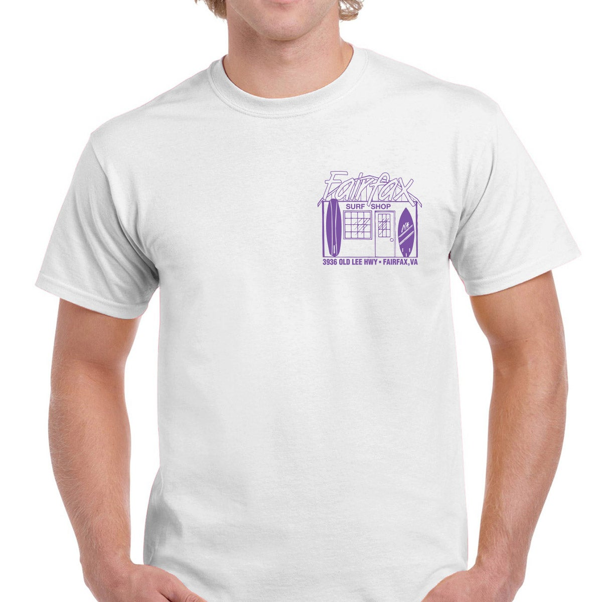 Image of FSS Shop T White/ Lavender