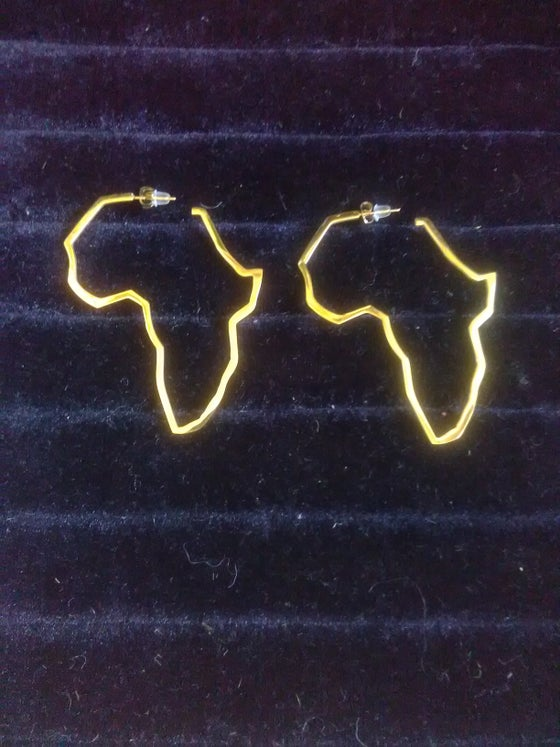 Image of Afrika Map Stud Ear-Rings (1)