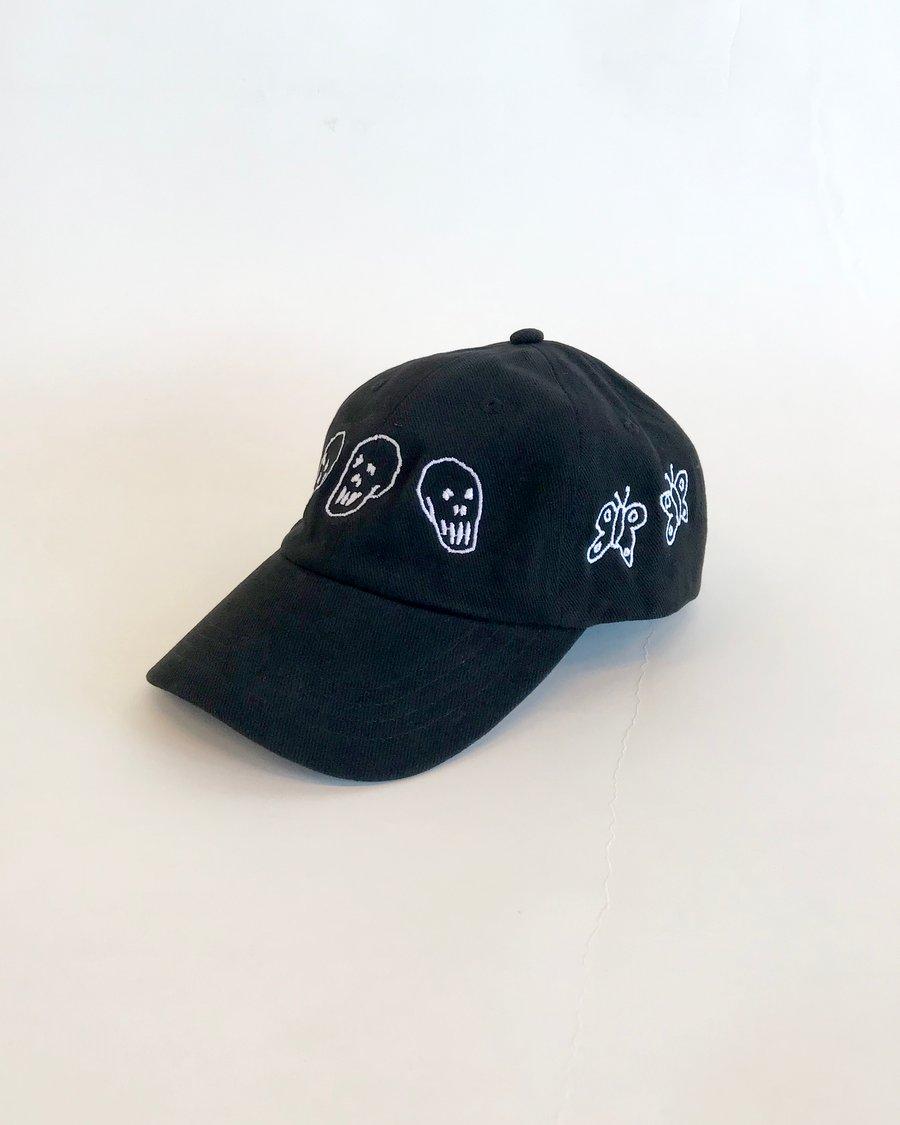 Image of Skulls And Butterflies Cap