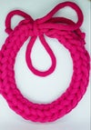 Fuschial Pink Handmade Necklace