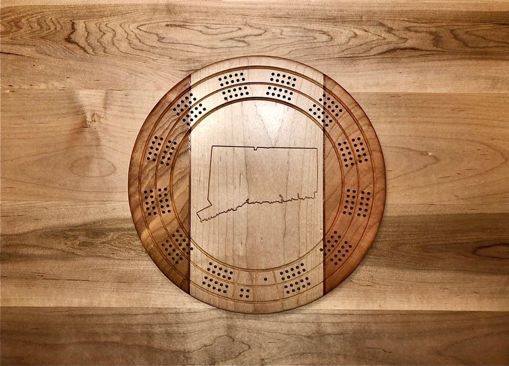 Image of CT Cribbage Board