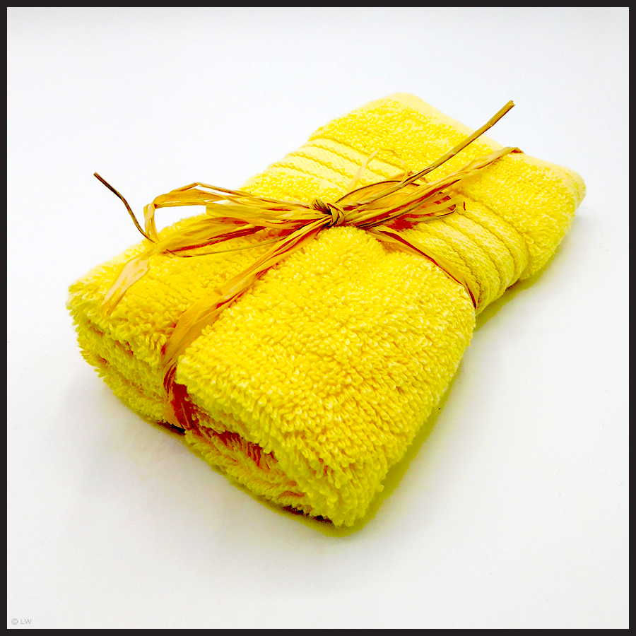 Luxury Face Cloths Yellow