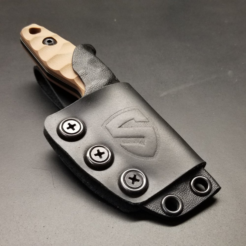 Image of Kydex/Leather Sheath Option for Folsom Necker (knife and Kydex sheath not included)