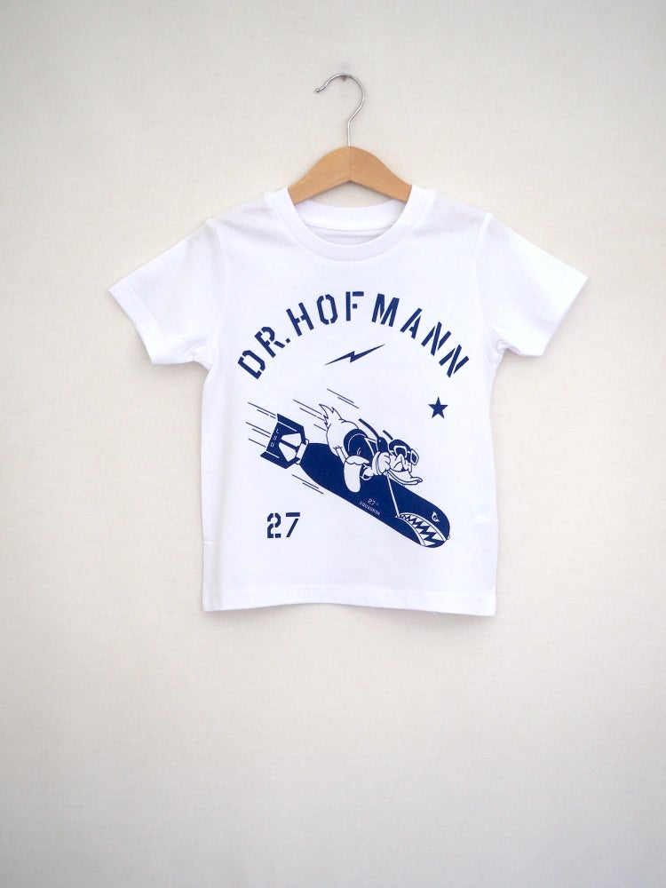 "Image of Kids ""DONALD"" Baseball Tee - Organic Cotton - White"