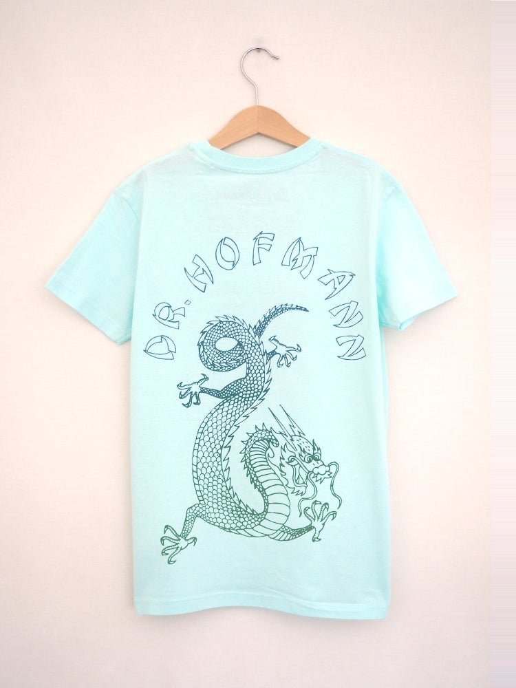"Image of Kids ""DRAGON"" Tee - Organic Cotton - Turquoise"