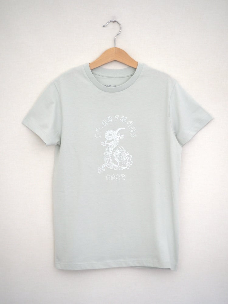 "Image of Kids ""DRAGON"" Tee - Organic Cotton - Pale green"