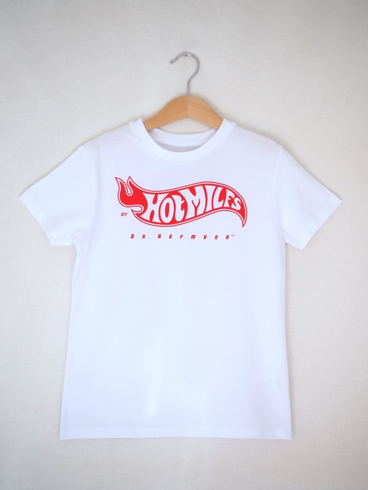 "Image of Kids ""HOT MILFS"" Tee - Organic Cotton - White"