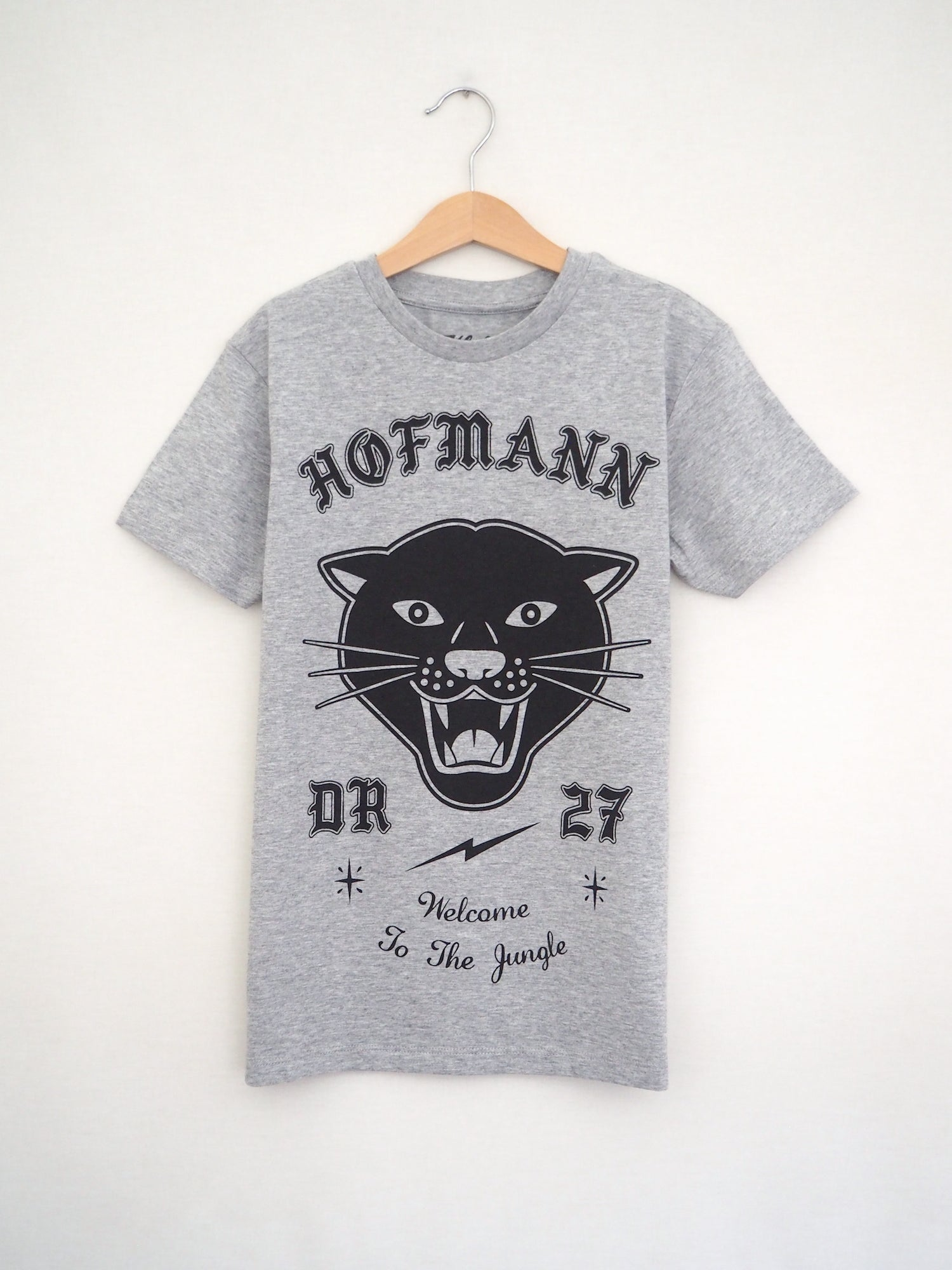 "Image of Kids ""PANTHER"" Tee - Organic Cotton - Sport Grey"