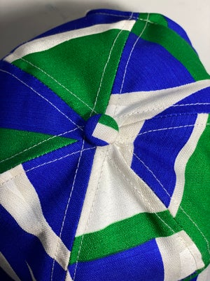 Image of 1960s abstract in blue, green and white