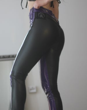 Image of KULTCHEN PURPLE PVC BASIC PANTS