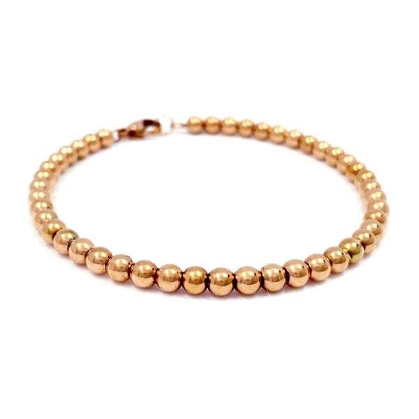Image of Kugelarmband 4 mm roségold