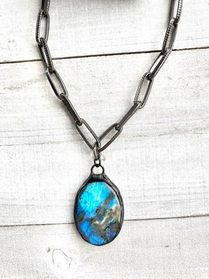 Bold Labradorite Necklace