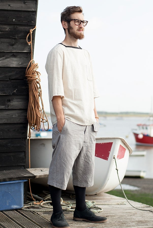 Image of Deck Shorts Light Grey £195.00