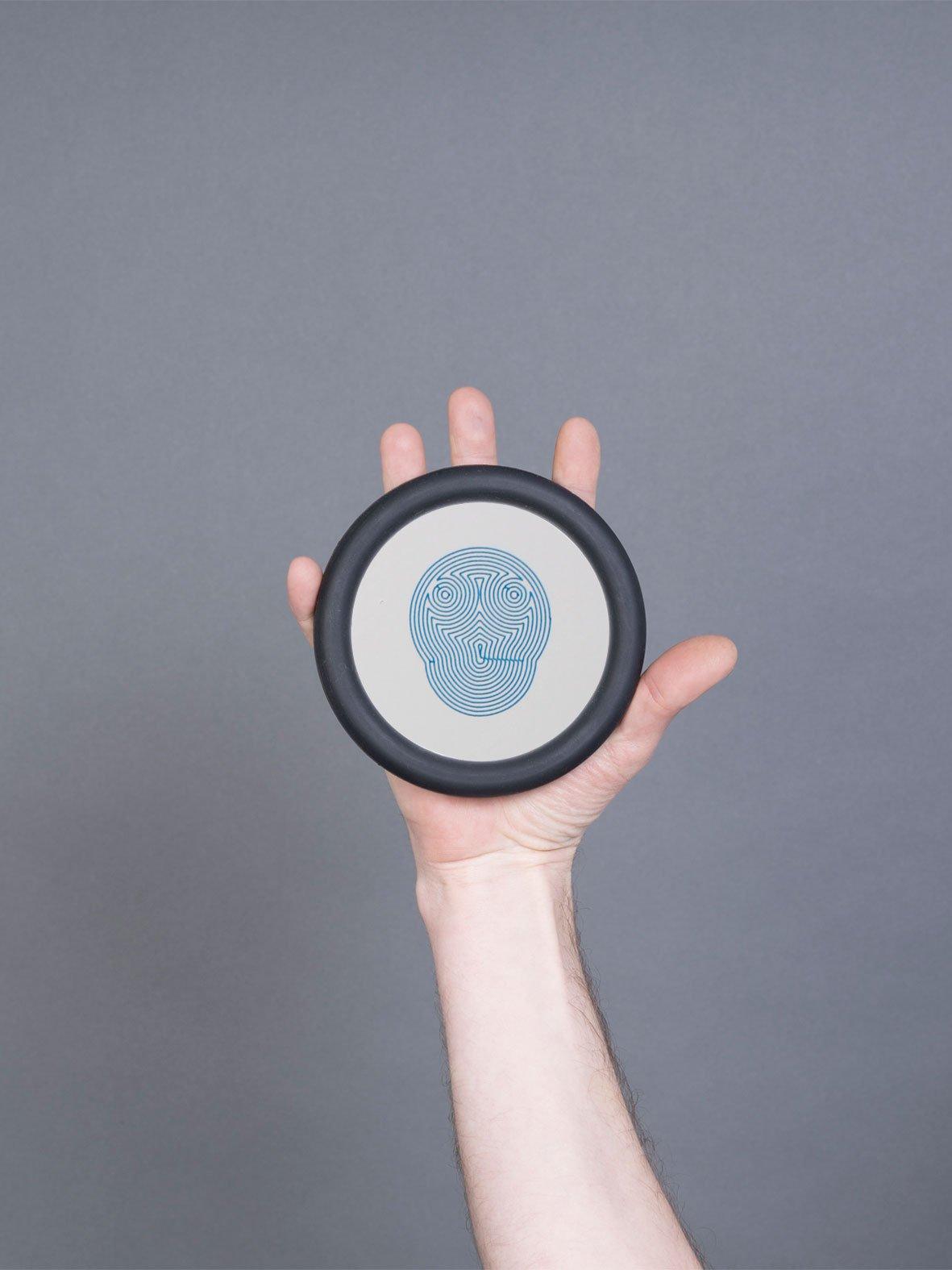 Mini Doodle Face #1 Blue