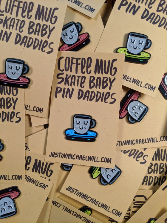 Image of Coffee Mug Skate Baby Pin Daddy.