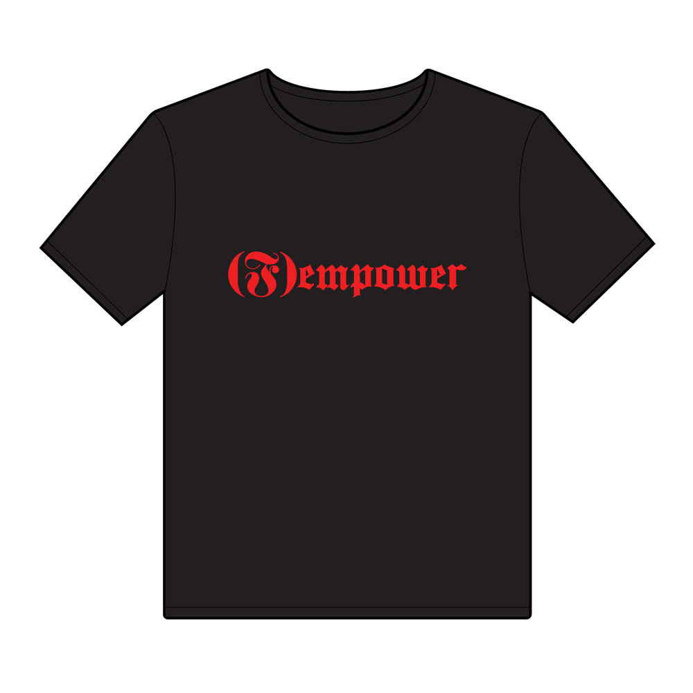 Image of (f)empower logo tee - black