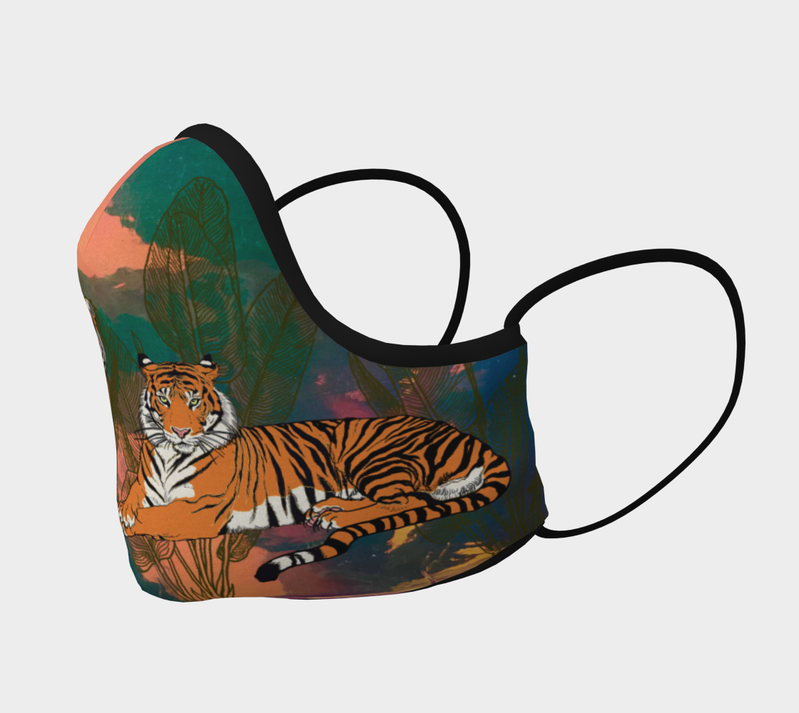 Image of Tigers in Iridescent Face Mask