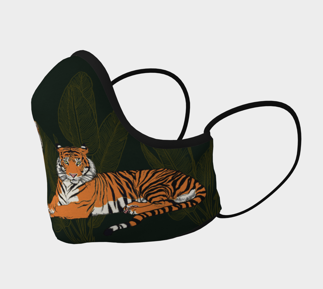 Image of Tigers in green Face Mask