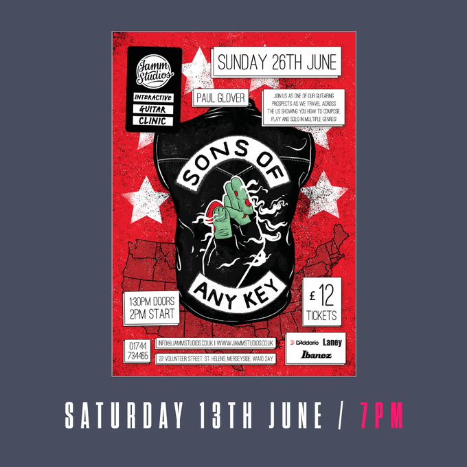 Image of Sons Of Any Key - Online Masterclass Ticket - 13th June 2020