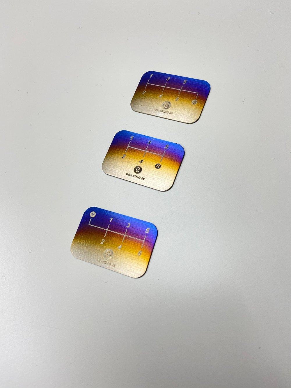 Titanium shift plate pattern