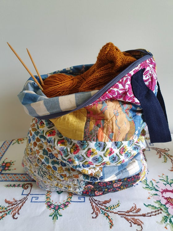 Image of The Pacific Coast Sweater project pouch - sewing pattern