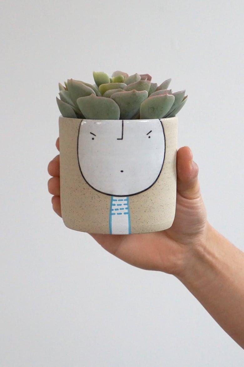 Image of Dash – Standing Guy Planter – ceramic pot
