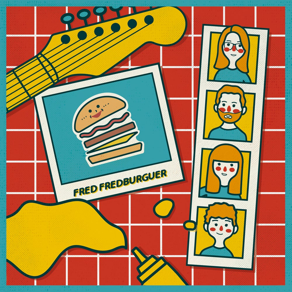 "Image of FRED FREDBURGUER - Fred Fredburguer (Limited 10"" Electric Blue Vinyl with MP3s)"