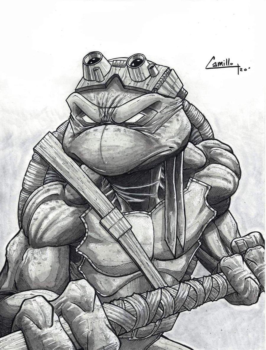Image of Donatello inkwash