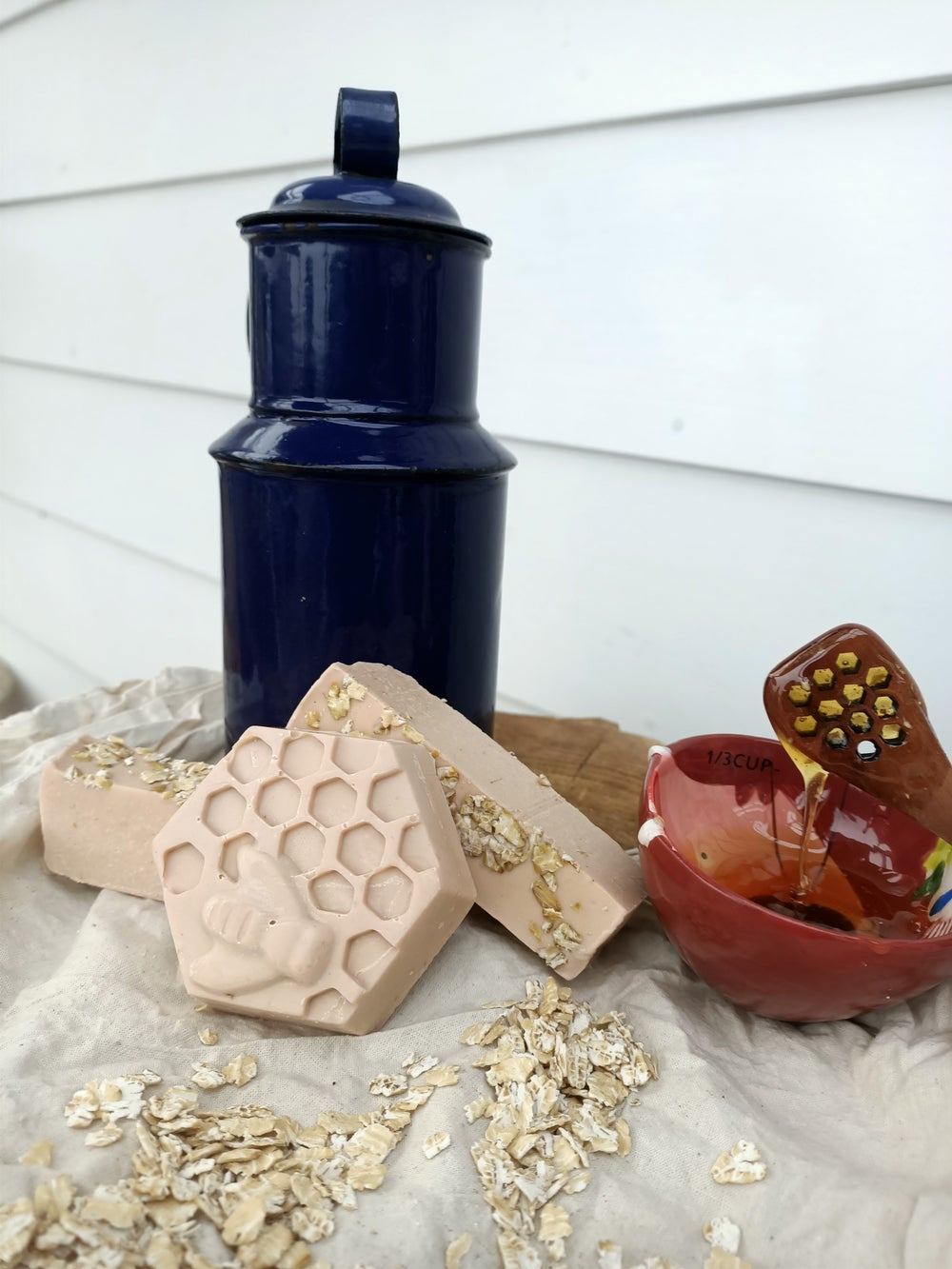 Image of Honey and oat soap