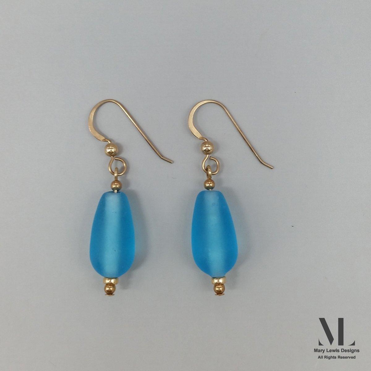 """""""Wineglass Bay"""" Earrings"""