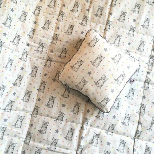 Image of Couverture-plaid bébé en coton -50%