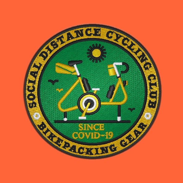 Image of Social Distance Cycling Club Bikepacking Gear Patch