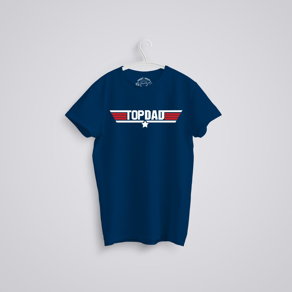 Image of Top Dad Father's Day Top Gun Organic T-Shirt