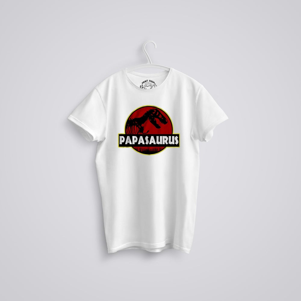 Image of Papasaurus Father's Day Jurassic Park T-Shirt