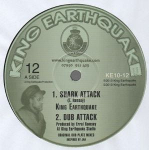 "KING EARTHQUAKE – SHARK ATTACK / TORTURE THE DEVIL / KING EARTHQUAKE – KE10-12 - 10"""