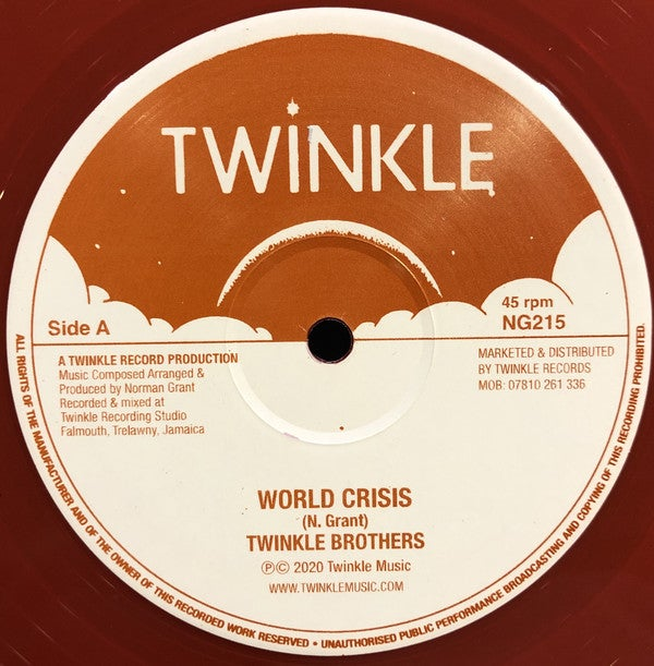 """TWINKLE BROTHERS – WORLD CRISIS / DECLARATION OF RIGHTS / TWINKLE MUSIC – NG215 - 12"""""""