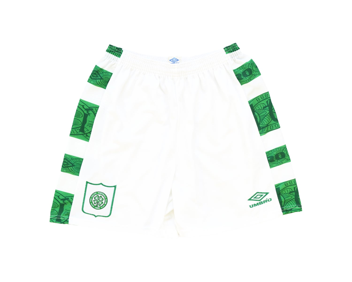Image of 1995-97 Umbro Celtic Home Shorts L/XL