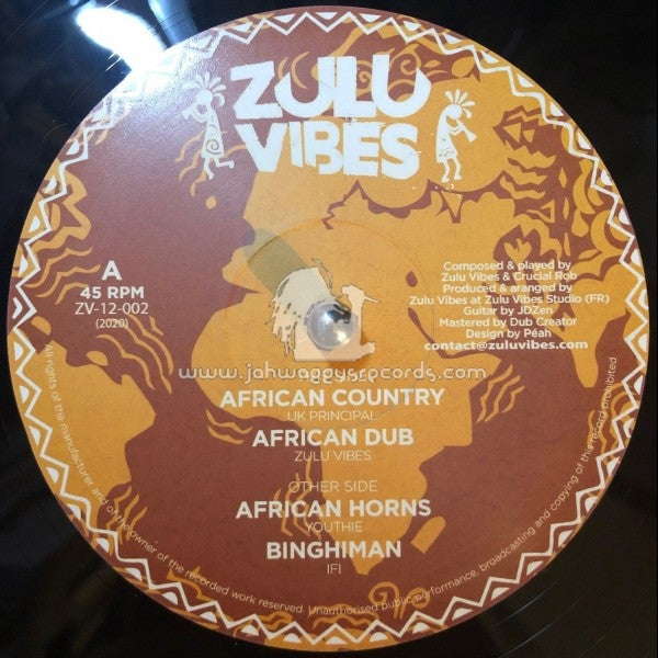 "ZULU VIBES-12"" -AFRICAN COUNTRY / UK PRINCIPAL + AFRICAN HORNS / YOUTHIE - 12"""