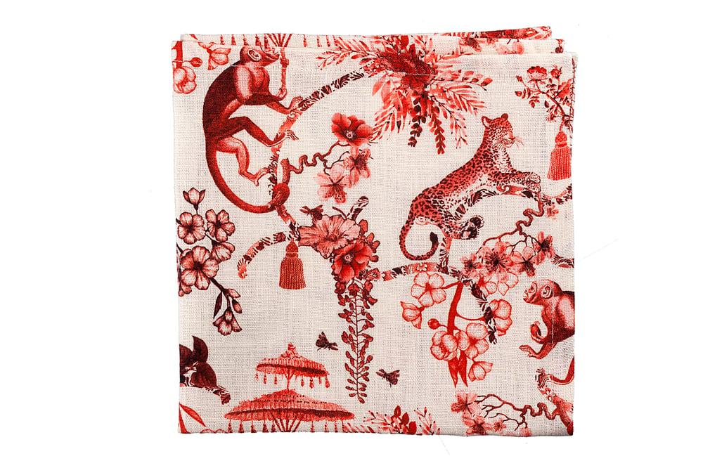 Image of Set di 2 tovaglioli Chinoiserie / Chinoiserie napkins set of 2