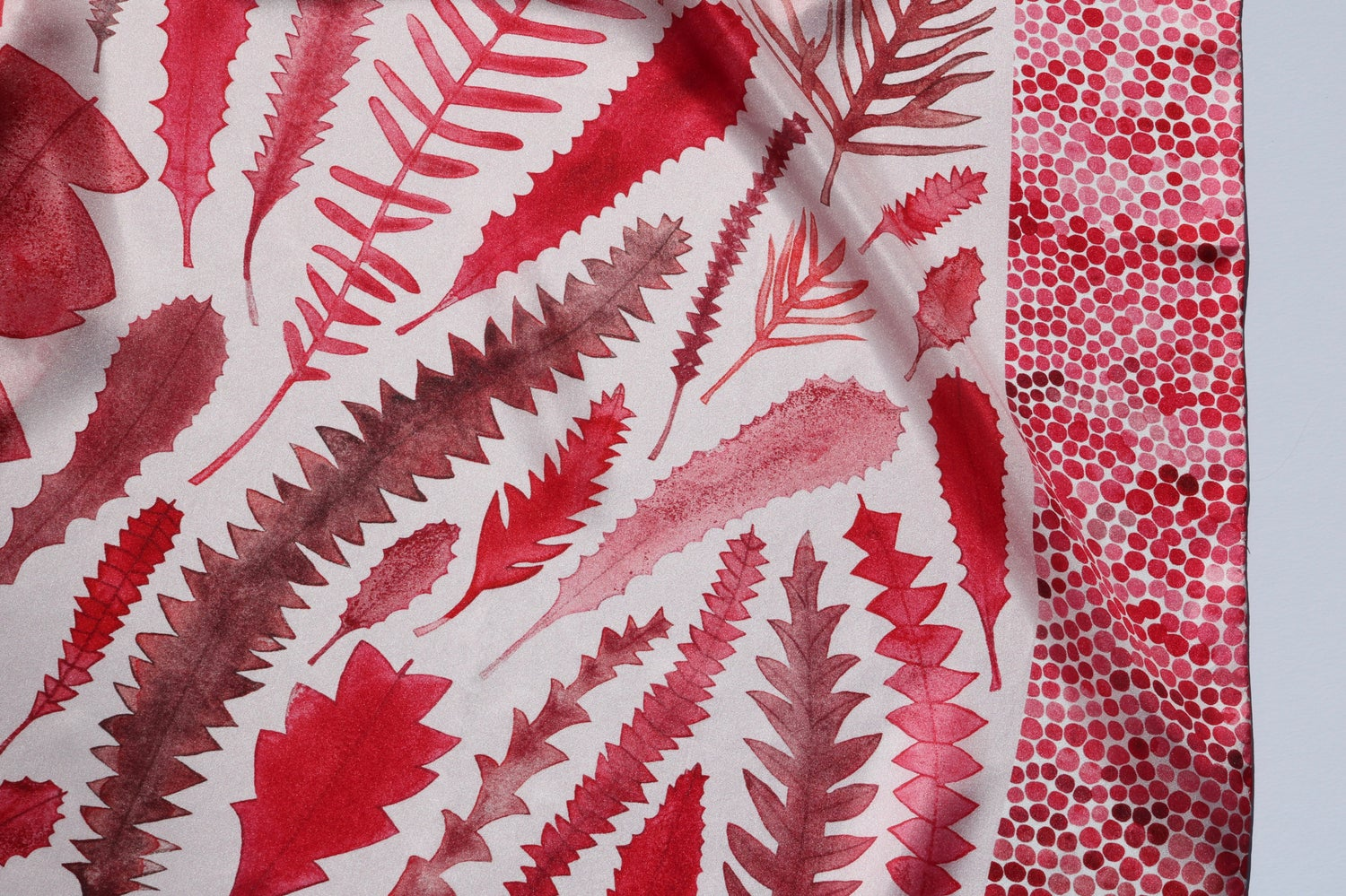 Image of Proteaceae Leaves Silk Scarf
