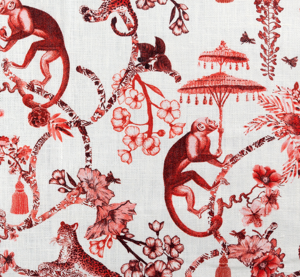 Image of Set di 2 tovaglioli in lino Chinoiserie / Chinoiserie linen napkins set of 2