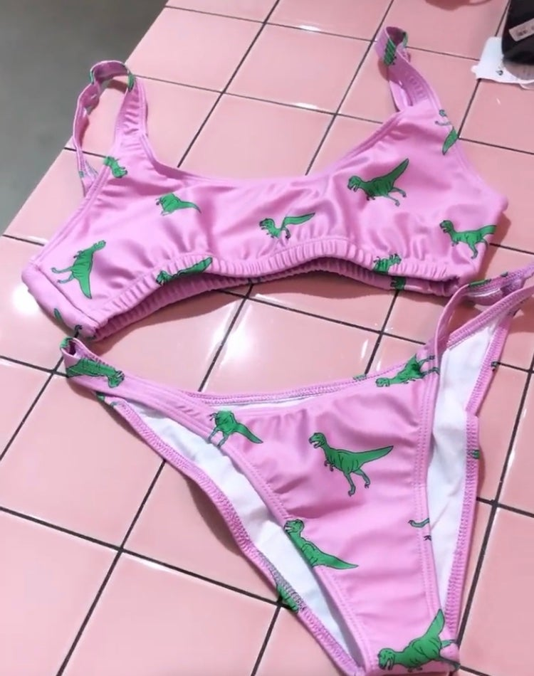 Image of T-rex bikini ||