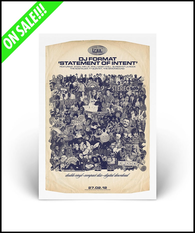 """Image of """"DJ Format - Statement Of Intent"""" A2 lithograph poster print (2nd Edition)"""
