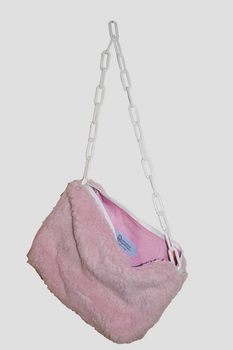 Image of fluffy pink purse